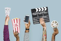 Παραλλαγή εκμετάλλευσης χεριών του αντικειμένου στοκ εικόνες με δικαίωμα ελεύθερης χρήσης