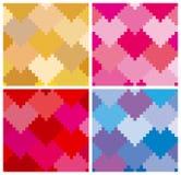 παραλλαγή προτύπων 4 καρδιών Στοκ εικόνα με δικαίωμα ελεύθερης χρήσης