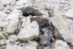 Παραμένει της παλαιάς πυράς προσκόπων στη λίμνη amistad στοκ εικόνες