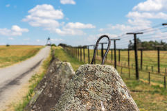Παραμένει της σιδερένιας αυλαίας κοντά στα σύνορα της Τσεχίας Στοκ Φωτογραφία