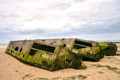 Παραμένει του λιμανιού μουριών στη Νορμανδία Γαλλία, Ευρώπη Στοκ Φωτογραφία