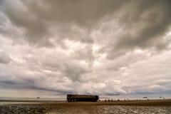 Παραμένει του λιμανιού μουριών στη Νορμανδία Γαλλία, Ευρώπη Στοκ Εικόνα