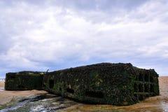 Παραμένει του λιμανιού μουριών στη Νορμανδία Γαλλία, Ευρώπη Στοκ φωτογραφίες με δικαίωμα ελεύθερης χρήσης