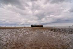 Παραμένει του λιμανιού μουριών στη Νορμανδία Γαλλία, Ευρώπη Στοκ Εικόνες