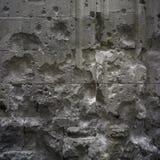 Παραμένει του πολέμου στον αρχαίο τοίχο στοκ εικόνα με δικαίωμα ελεύθερης χρήσης
