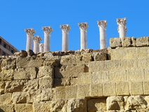 Παραμένει του ρωμαϊκού ναού της Κόρδοβα _ Ισπανία Στοκ Εικόνες