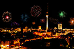 Παραμονή Πρωτοχρονιάς στο Βερολίνο στοκ εικόνα