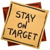 Παραμονή στη σημείωση υπενθυμίσεων στόχων Στοκ Φωτογραφία