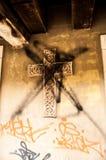 Παραμορφωμένος σταυρός Στοκ Εικόνες