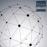 Παραμορφωμένο περίληψη διανυσματικό υπόβαθρο δικτύων Στοκ φωτογραφίες με δικαίωμα ελεύθερης χρήσης