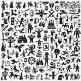 Παραμύθια doodles Στοκ φωτογραφία με δικαίωμα ελεύθερης χρήσης