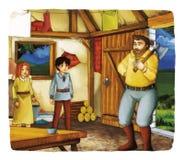 Παραμύθι κινούμενων σχεδίων - απεικόνιση για τα παιδιά Στοκ Εικόνες
