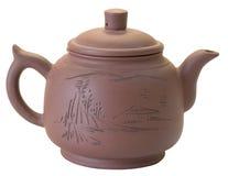 παρασκευάζοντας teapot αργί&lambda στοκ φωτογραφία