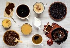 Παρασκευή και συστατικά καφέ Στοκ Φωτογραφία