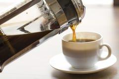 Παρασκευή καφέ στοκ φωτογραφίες