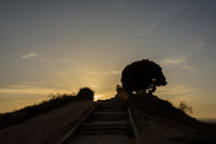 Παρατήρηση ηλιοβασιλέματος στοκ εικόνες