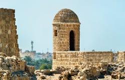 Παρατηρητήριο στο οχυρό του Μπαχρέιν Μια περιοχή παγκόσμιων κληρονομιών της ΟΥΝΕΣΚΟ Στοκ Εικόνα