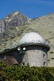 Παρατηρητήριο στο pleso Skalnate, Lomnicky stit, υψηλό Tatras στη Σλοβακία Στοκ Φωτογραφία