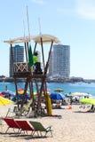 Παρατηρητήριο Lifeguard στην παραλία Cavancha σε Iquique, Χιλή Στοκ Φωτογραφία