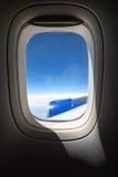 Παραφωτίδα αεροπλάνων με την άποψη σχετικά με το φτερό αεροπλάνων Στοκ εικόνα με δικαίωμα ελεύθερης χρήσης