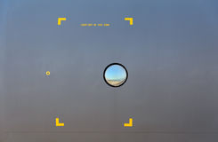 Παραφωτίδα σε ένα στρατιωτικό αεροπλάνο Στοκ φωτογραφία με δικαίωμα ελεύθερης χρήσης