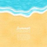 Παραλία, άμμος, θάλασσα, διανυσματική απεικόνιση