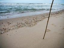 Παραλία άμμου θάλασσας Στοκ Εικόνες