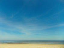 Παραλία άμμου θάλασσας Στοκ φωτογραφία με δικαίωμα ελεύθερης χρήσης