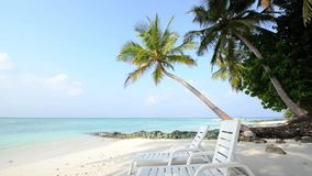 Παραλία άμμου και ωκεάνιο κύμα παραλιών waveSand ωκεάνιου και, Μαλδίβες φιλμ μικρού μήκους