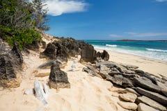 Παραλία άμμου παραδείσου στη Μαδαγασκάρη, Antsiranana, Diego Suarez Στοκ φωτογραφίες με δικαίωμα ελεύθερης χρήσης