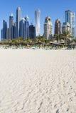 Παραλία άμμου του Ντουμπάι Στοκ φωτογραφία με δικαίωμα ελεύθερης χρήσης