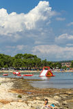 Παραλία ήλιων στην Αδριατική Στοκ Φωτογραφίες