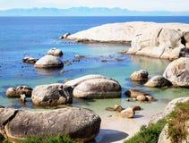 Παραλία λίθων, δυτικό ακρωτήριο, Νότια Αφρική Στοκ Φωτογραφία