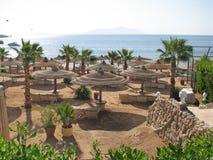 παραλία Αίγυπτος Παραλία θερέτρου Στοκ Εικόνες