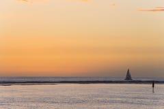 Παραλία Αγίου Gilles, νησί συγκέντρωσης Λα, Γαλλία Στοκ εικόνα με δικαίωμα ελεύθερης χρήσης