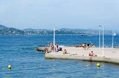 Παραλία Αγίου Tropez Στοκ Φωτογραφία