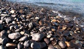 Παραλία βράχου ομορφιών Στοκ εικόνα με δικαίωμα ελεύθερης χρήσης