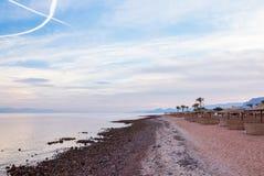 Παραλία βραδιού στην Αίγυπτο Στοκ Εικόνες
