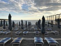 Παραλία βραδιού Στοκ φωτογραφίες με δικαίωμα ελεύθερης χρήσης
