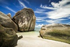 Παραλία Δ ` Argent πηγής Anse Στοκ φωτογραφίες με δικαίωμα ελεύθερης χρήσης
