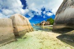Παραλία Δ ` Argent πηγής Anse Στοκ Εικόνες