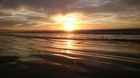 Παραλία ηλιοβασιλέματος Στοκ Εικόνες