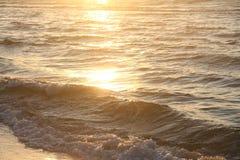 Παραλία ηλιοβασιλέματος Στοκ Φωτογραφίες