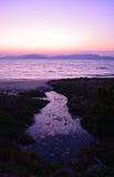 Παραλία ηλιοβασιλέματος Στοκ εικόνες με δικαίωμα ελεύθερης χρήσης
