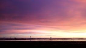 Παραλία ηλιοβασιλέματος Στοκ Εικόνα