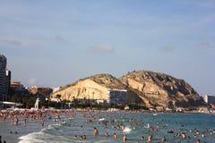 Παραλία Ισπανία Αλικάντε Στοκ εικόνες με δικαίωμα ελεύθερης χρήσης