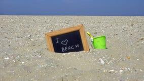 παραλία ι αγάπη Στοκ φωτογραφία με δικαίωμα ελεύθερης χρήσης