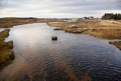 Παραλία και γήπεδο του γκολφ, Arisaig, Σκωτία Στοκ Φωτογραφίες