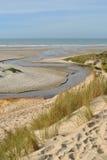 Παραλία και θάλασσα αμμόλοφων - κηλίδα ηλίου Hardelot Στοκ εικόνα με δικαίωμα ελεύθερης χρήσης