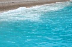 Παραλία και υπόβαθρο της άμμου ήλιων θάλασσας Στοκ Εικόνες